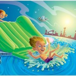 Aviva Water Toys Package Illustration
